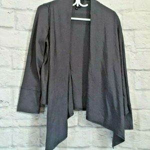 Due Per Due Gray Open Front Cardigan Sweater